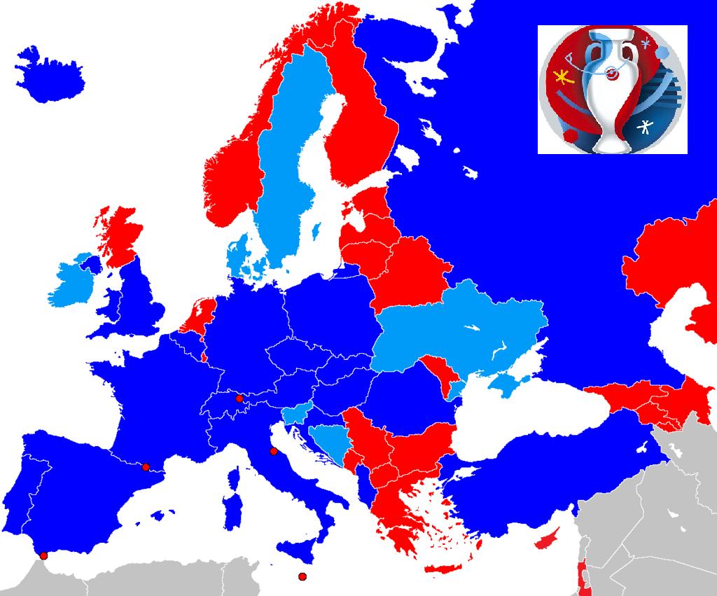 Térképen mutatjuk, ki jutott ki eddig a foci Eb-re